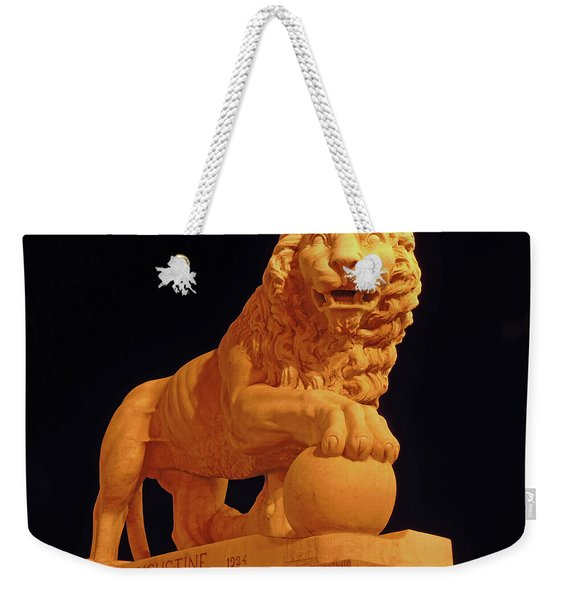 Night Of The Lion Weekender Tote Bag