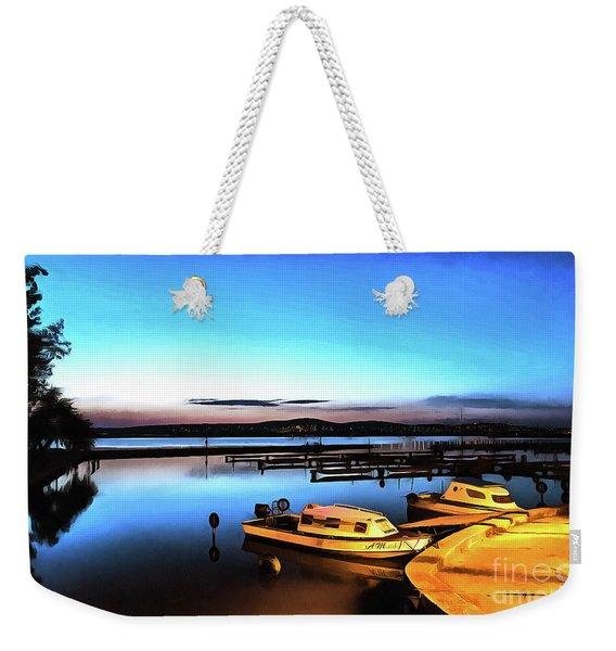 Night Port Painting Weekender Tote Bag