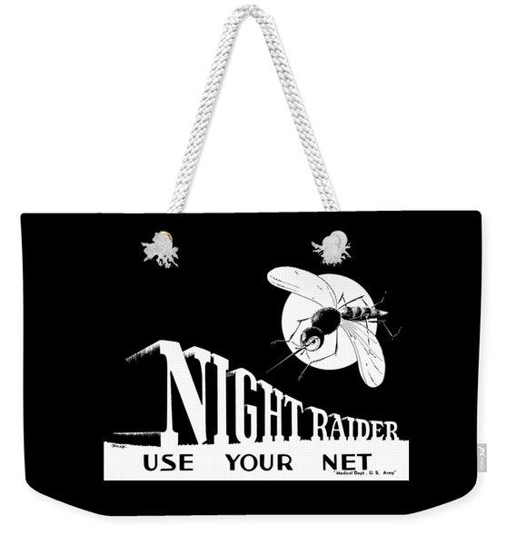 Night Raider Ww2 Malaria Poster Weekender Tote Bag