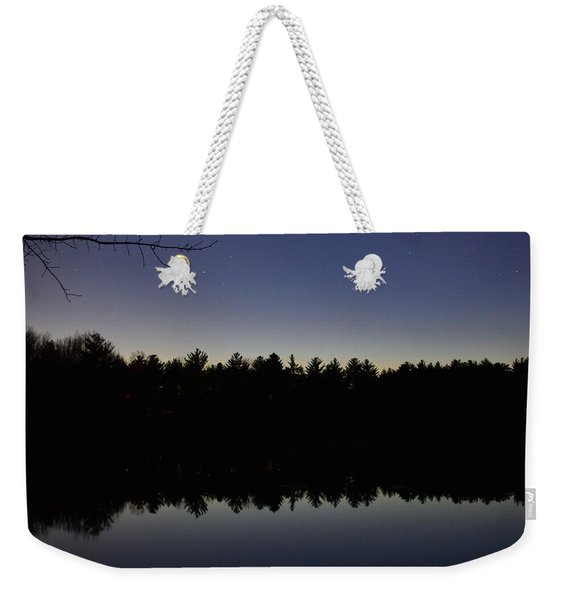 Night Reflects On The Pond Weekender Tote Bag