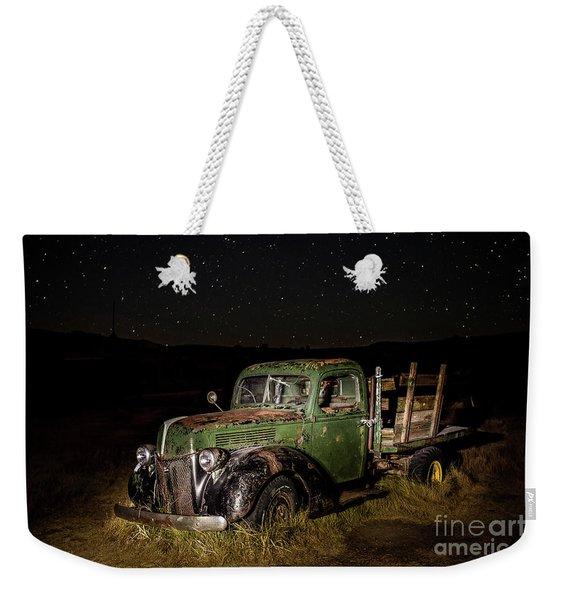 Night Run Weekender Tote Bag
