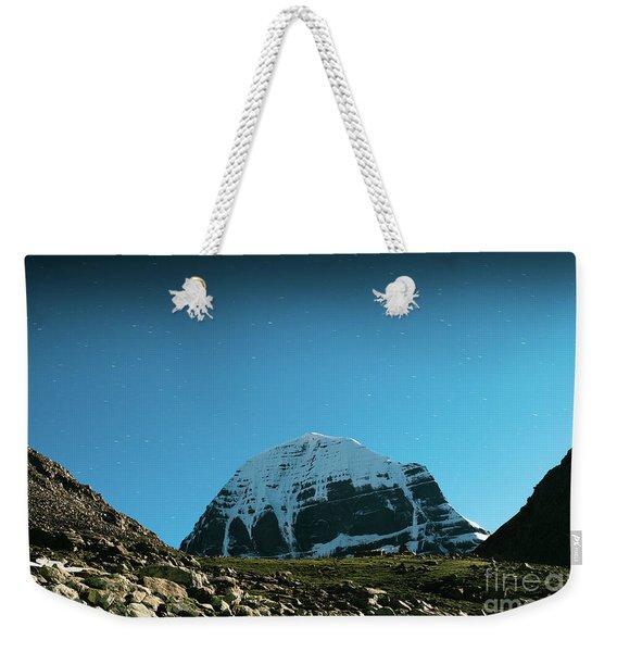 Night Sky Holy Kailas Himalayas Tibet Yantra.lv Weekender Tote Bag