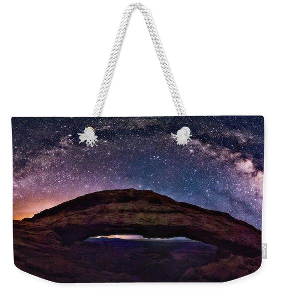 Night Sky Over Mesa Arch Utah Weekender Tote Bag