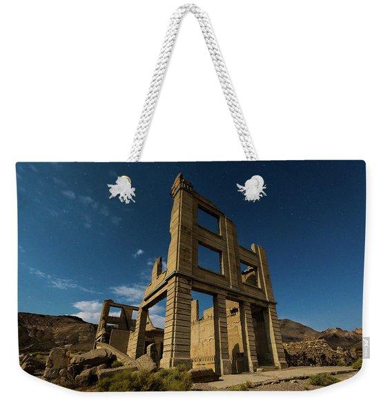 Night Sky Over Rhyolite Weekender Tote Bag