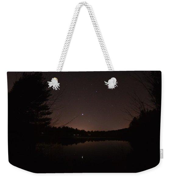 Night Sky Over The Pond Weekender Tote Bag