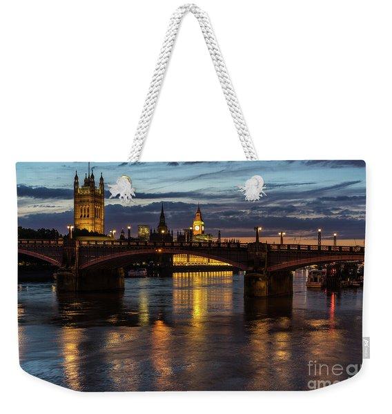 Night Thames Mood Weekender Tote Bag