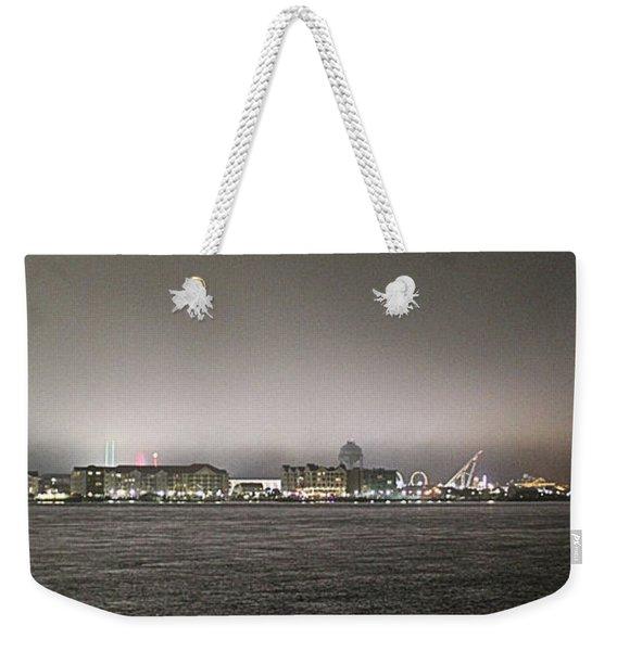 Night View Ocean City Downtown Skyline Weekender Tote Bag