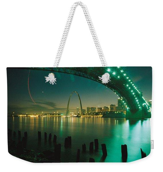Night View Of St. Louis, Mo Weekender Tote Bag