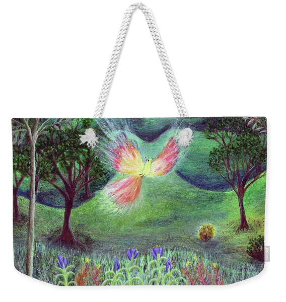 Night With Fire Bird And Sacred Bush Weekender Tote Bag