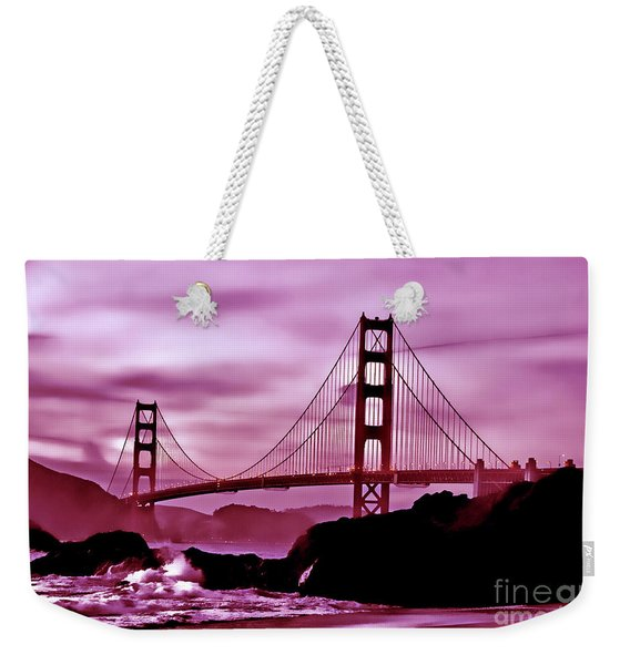 Nightfall At The Golden Gate Weekender Tote Bag