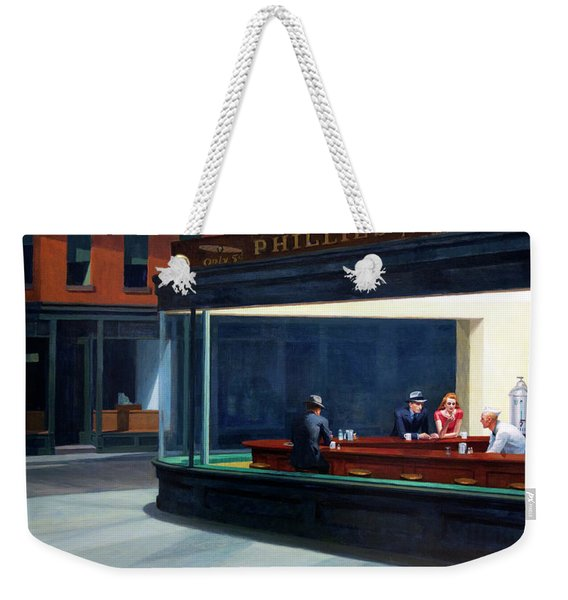 Nighthawks By Edward Hopper Weekender Tote Bag