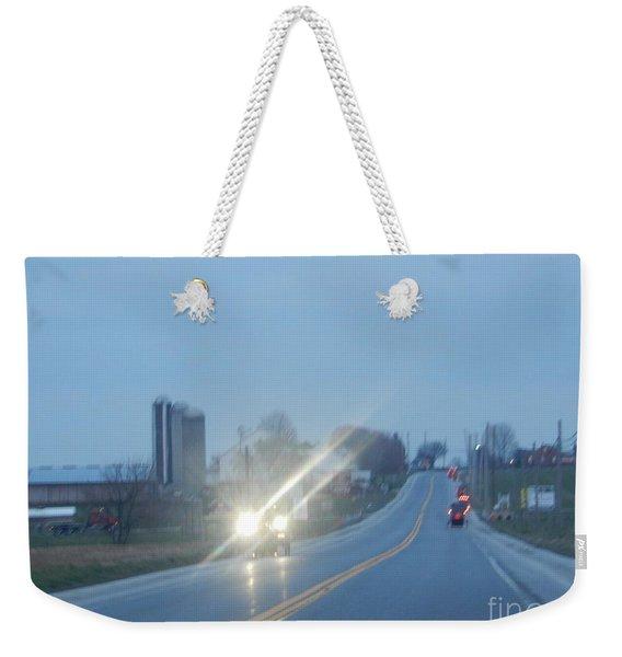 Nightime Travel Weekender Tote Bag