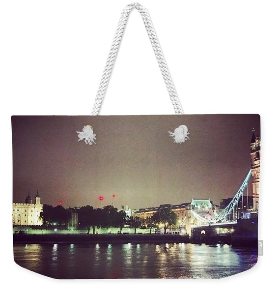Nighttime In London Weekender Tote Bag