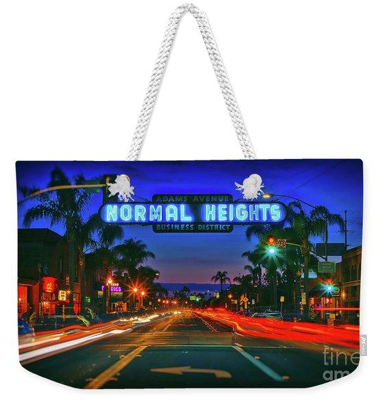 Nighttime Neon In Normal Heights, San Diego, California Weekender Tote Bag