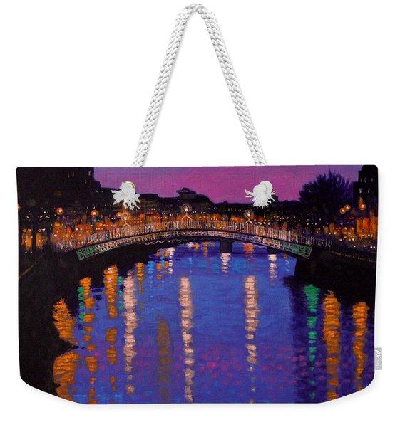 Nighttown Ha Penny Bridge Dublin Weekender Tote Bag