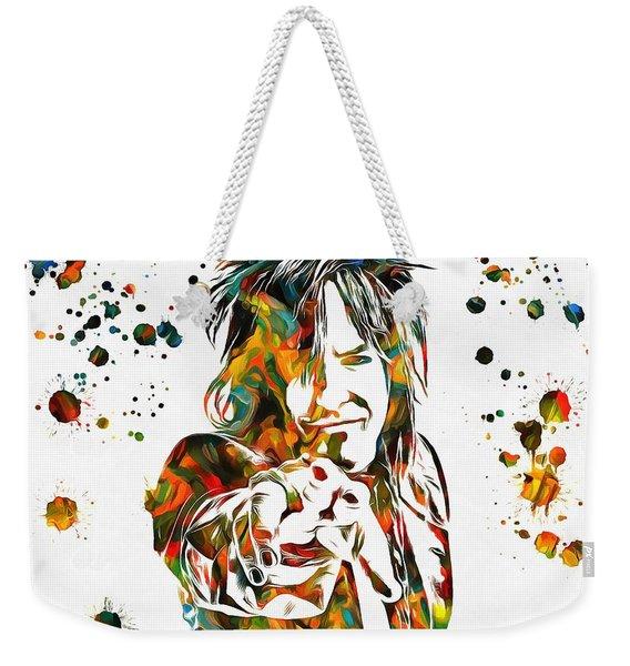 Nikki Sixx Paint Splatter Weekender Tote Bag
