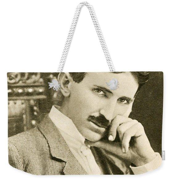 Nikola Tesla, Serbian-american Inventor Weekender Tote Bag