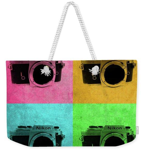 Nikon Camera Vintage Pop Art Weekender Tote Bag