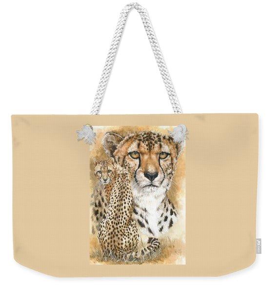 Weekender Tote Bag featuring the mixed media Nimble by Barbara Keith