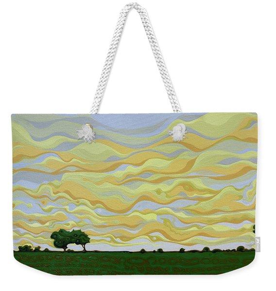 Nimble Sigh Sky Weekender Tote Bag