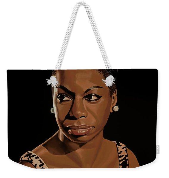 Nina Simone Painting 2 Weekender Tote Bag