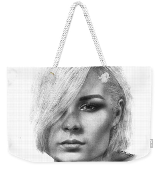 Nina Nesbitt Drawing By Sofia Furniel Weekender Tote Bag