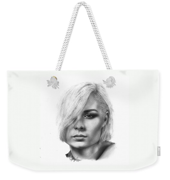 Nina Nesbitt Drawing By Sofia Furniel Weekender Tote Bag