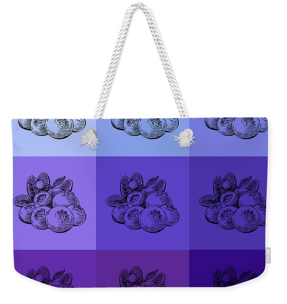 Nine Shades Of Blueberries Weekender Tote Bag