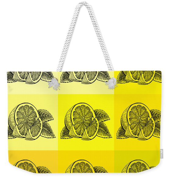 Nine Shades Of Lemon Weekender Tote Bag