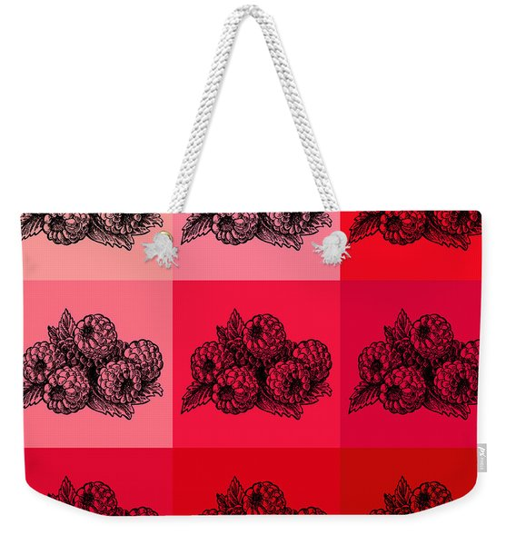 Nine Shades Of Raspberries Weekender Tote Bag