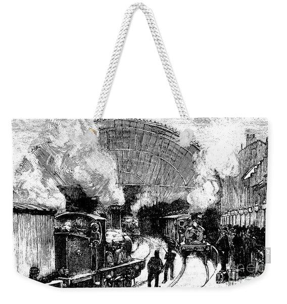 Nineteenth Century Railway Station Weekender Tote Bag