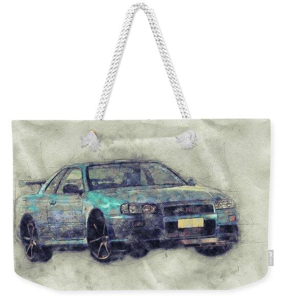 Nissan Skyline Gt-r 1 - Spors Car - Automotive Art - Car Posters Weekender Tote Bag