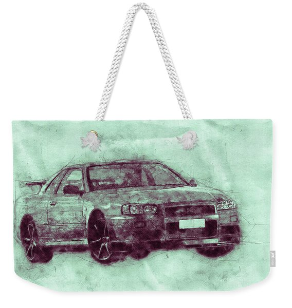 Nissan Skyline Gt-r 3 - Spors Car - Automotive Art - Car Posters Weekender Tote Bag