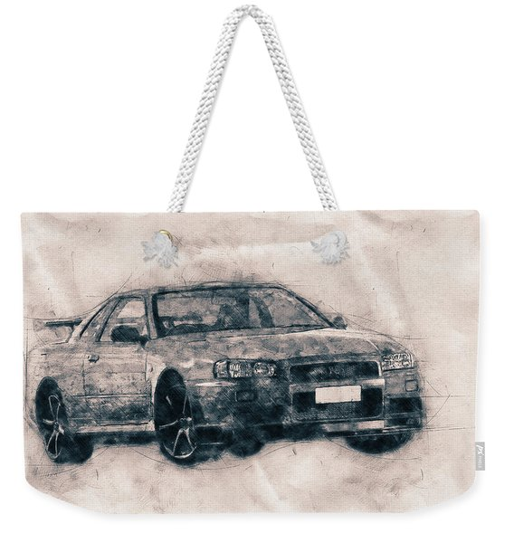 Nissan Skyline Gt-r - Spors Car - Automotive Art - Car Posters Weekender Tote Bag