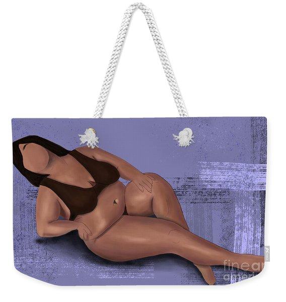 Weekender Tote Bag featuring the digital art No Angel by Bria Elyce