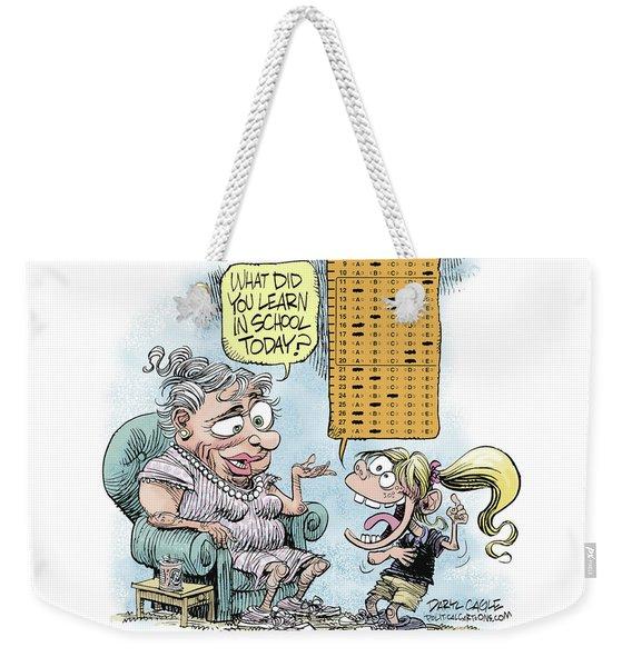 No Child Left Behind Testing Weekender Tote Bag
