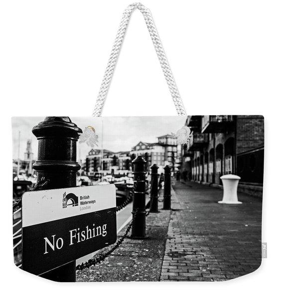 No Fishing Weekender Tote Bag