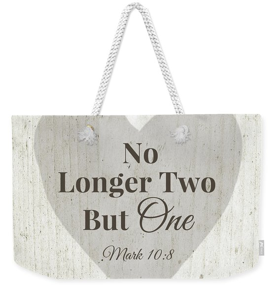 No Longer Two- Art By Linda Woods Weekender Tote Bag