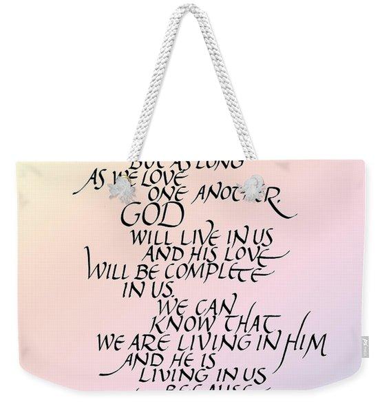 No One Has Seen God Weekender Tote Bag