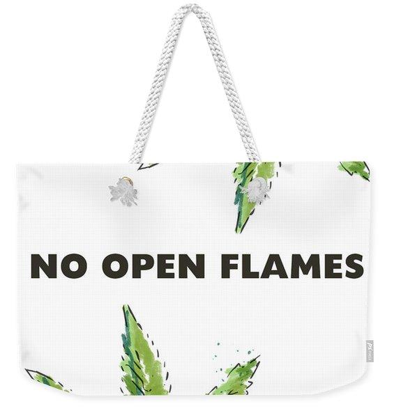 No Open Flames Sign- Art By Linda Woods Weekender Tote Bag