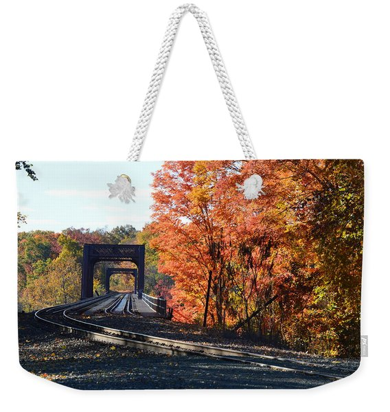 No Train Coming Weekender Tote Bag