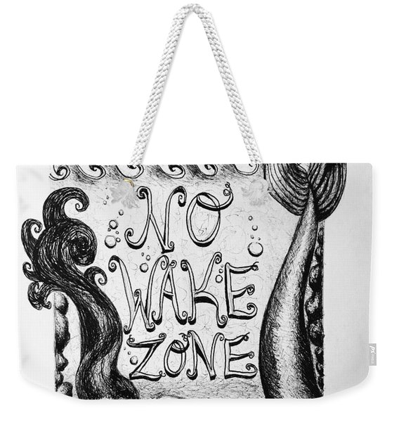 No Wake Zone, Mermaid Weekender Tote Bag