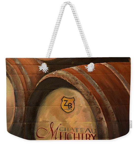 No Wine Before It's Time - Barrels-chateau Meichtry Weekender Tote Bag