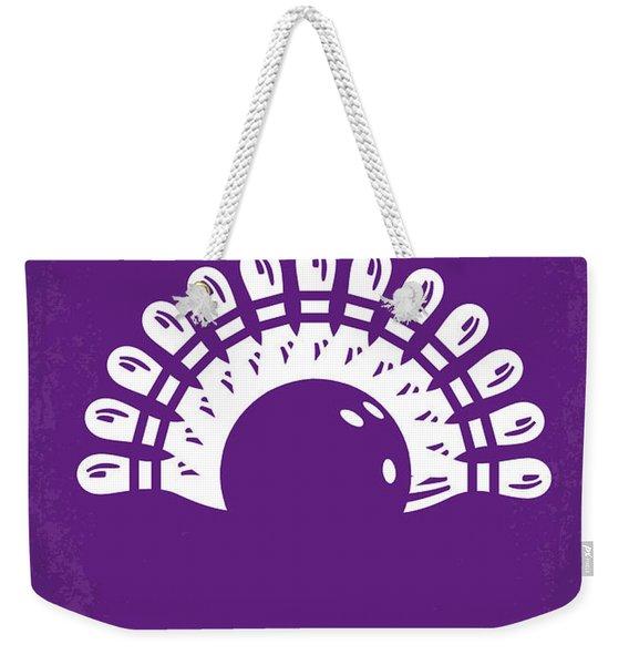 No010 My Big Lebowski Minimal Movie Poster Weekender Tote Bag
