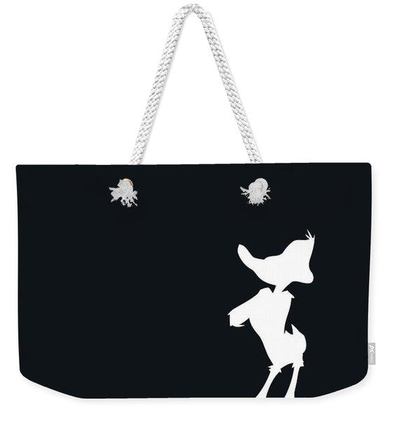 No03 My Minimal Color Code Poster Daffy Duck Weekender Tote Bag