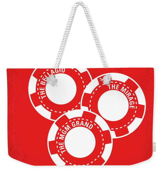 No056 My Oceans 11 Minimal Movie Poster Weekender Tote Bag