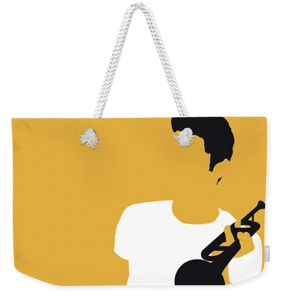 No084 My Chet Baker Minimal Music Poster Weekender Tote Bag
