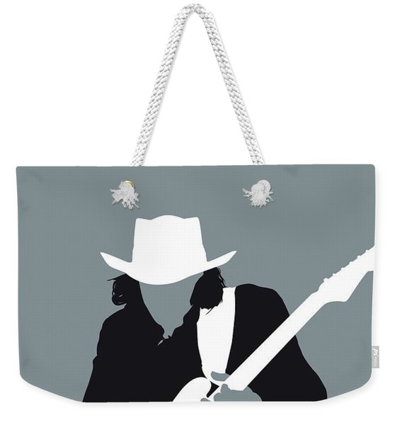 No087 My Stevie Ray Vaughan Minimal Music Poster Weekender Tote Bag