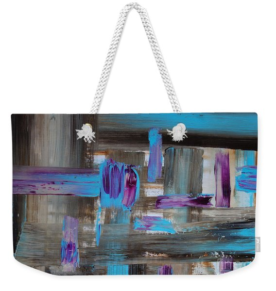Weekender Tote Bag featuring the painting No.1245 by Jacqueline Athmann