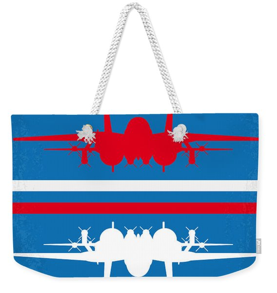 No128 My Top Gun Minimal Movie Poster Weekender Tote Bag